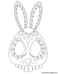this bunny sugar skull is kind of easter eggy potionsmith sugar