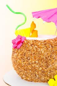 tropical drink emoji piña colada coconut drink cake