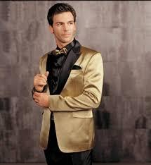 tuxedo for wedding gold jacket with black lapel groom tuxedos groomsmen blazer