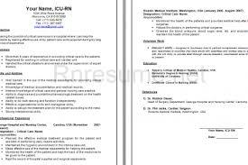 icu nurse resume sample experienced rn resume sample registered