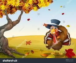 illustration turkey autumn scenery stock vector 127919285