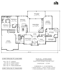 5 bedroom 1 story house plans 2 story 1 car garage house plans luxihome cool 5 bedroom 3car