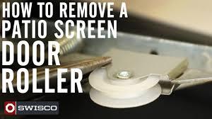 Replacing Patio Door Rollers by How To Remove A Patio Screen Door Roller Youtube