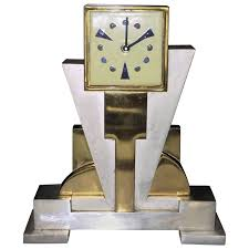 Unique Desk Clocks Jean Goulden Modernist Clock At 1stdibs