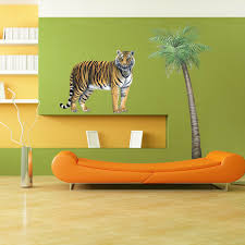 Jungle Wall Decals Giant Tiger Wall Sticker Create Your Own Amazing Jungle Themed Room