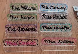 unique name plates acrylic desk name plate my vinyl direct