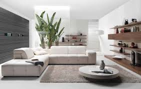 Modern White Arm Chairs Modern Living Room Brown White Leather Base Round White Table