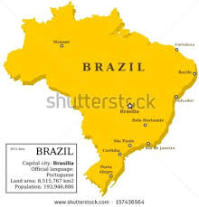map of brazil map brazil country outline information box stock vector 157436564