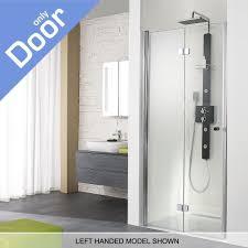 Easy Clean Shower Doors Hsk Exklusiv Left Handed Semi Frameless Bifold Shower Door 900mm