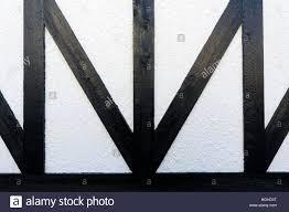 right angle triangle design on the facade of a tudor style