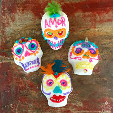 sugar skull tutorial icing crafty chica