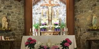 Easter Decorations At Church by St Anne Catholic Church Pensacola Fl