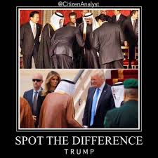 Obama No American Flag Who Bowed Memes Compare Trump And Obama During Saudi Arabia Visits