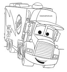 Mack Truck Coloring Pages For Kids Coloring Point Coloring Point Lighting Mcqueen Coloring Page