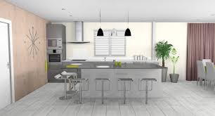 cuisine ouverte sur salle à manger decoration salon cuisine americaine