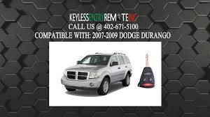 jeep durango 2008 how to replace dodge durango key fob battery 2007 2008 2009 youtube