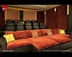 media room with cineak intimo seats traditional home theater