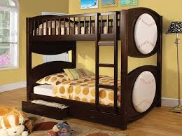 Baseball Bunk Beds Furniture Of America Baseball Bunk Bed With 2 Drawers