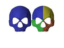 silver skull halloween mask 3d print model halloween mask skull mask masquerade