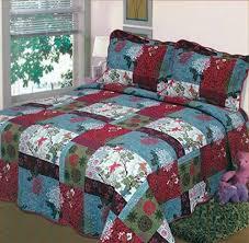christmas bedspreads amazon com