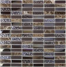 Kitchen Wall Stone Tiles - design decor glass mosaic kitchen backsplash tiles sgmt034 brown