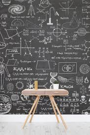 Scientific Chalkboard Effect Wall Mural Chalkboards Wallpaper - Wallpaper design for walls