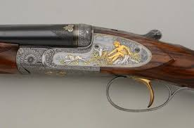 gold inlay engraving francotte side lock sxs 20 ga shotgun with master engraving