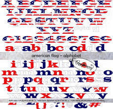 american flag alphabet clip art pack 300 dpi transparent
