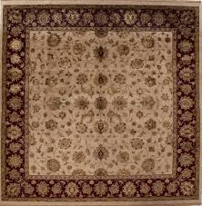 Indian Area Rugs Indian Kashmir Beige Square 9 Ft And Larger Wool Carpet 13300