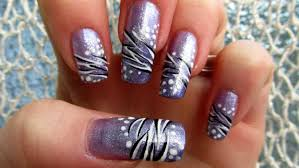 nail design zebra print beautify themselves with sweet nails
