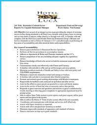 bartender resume format bartender resume skills tomyumtumweb