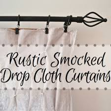Smocked Burlap Curtains Rustic Smocked Drop Cloth Curtains Because I M Cheap Hometalk