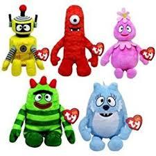 amazon ty beanie babies yo gabba gabba 5 toys u0026 games