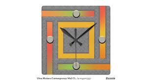Designer Wall Clock Ultra Modern Contemporary Wall Clock Zazzle Modern Designer Wall