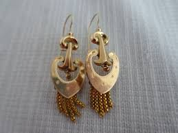 beautiful gold earrings beautiful gold earrings with beard biedermeier catawiki