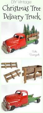 christmas tree delivery diy vintage christmas tree delivery truck for bottle brush trees
