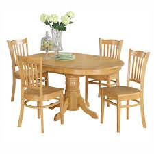 Dining Room Chairs Furniture by East West Furniture Avon 5 Piece Oval Dining Table Set With