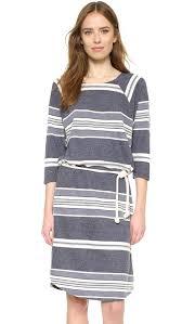 sol angeles turkish stripe sailor dress in blue lyst