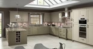 Fitted Kitchen Designs Adorable U Shape Fitted Kitchen Featuring Grey Color Wooden
