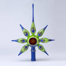 13 david strand designs glass starlight peacock retro christmas