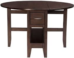 brooklyn heights dark grey gate leg extendable dining table from a