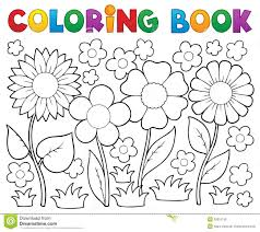 coloring book with flower theme royalty free stock image image