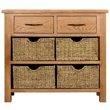 Oak Console Table With Drawers Sidmouth Oak Console Table Dunelm
