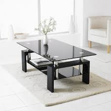 coffee table wonderful black coffee table contemporary glass