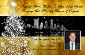 real estate new years cards christmas new years postcards for realtors and