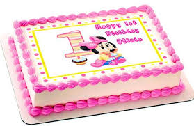 minnie mouse 1st birthday baby minnie mouse 1st birthday edible cake topper cupcake