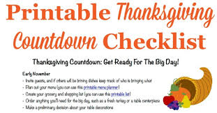 thanksgiving countdown plan for a great day includes free printable