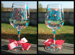 wine glass gifts great gift idea monogram wine glasses decorated in vinyl with