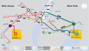Train Map New York by Airtrain New York Map New York Map