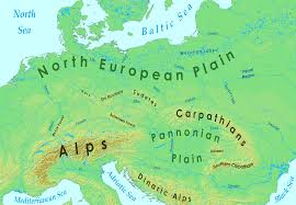 Europe Map Physical by File Major Geographic Features Of Central Europe Png Wikimedia